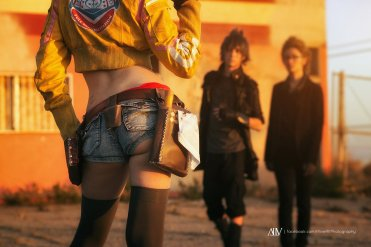 #Cosplay #FinalFantasyXV Cindy : Brinni, Noctis : Christian Guerrero, Ignis : Yacchin Cosplay Photo by #AliveAlfPhotography