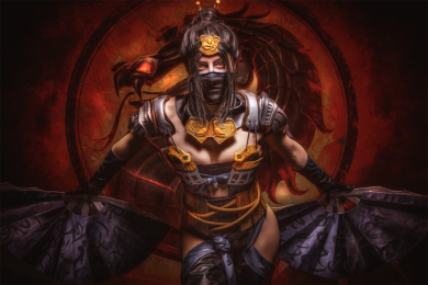 Kitana: Fight! [Mortal Kombat X] by MowkyCosplay - Photography by EosAndy